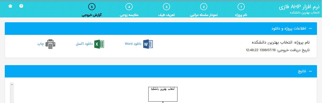 نرم افزار AHP فازی- دانلود اکسل